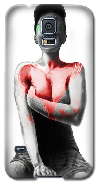 Galaxy S5 Case featuring the digital art Black Xoxo by AC Williams