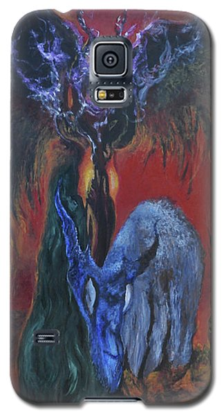 Galaxy S5 Case featuring the painting Blackberry Thorn Psychosis by Christophe Ennis
