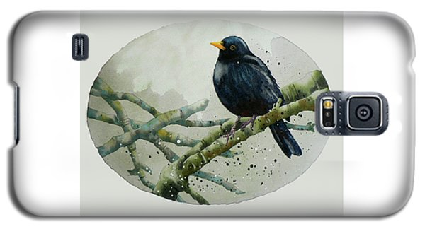 Blackbird Painting Galaxy S5 Case by Alison Fennell