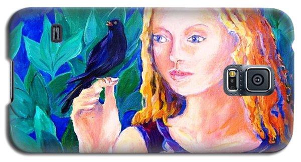 Blackbird Singing In The Dead Of Night  Galaxy S5 Case by Trudi Doyle