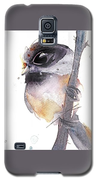 Galaxy S5 Case featuring the painting Blackcapped Chickadee by Dawn Derman
