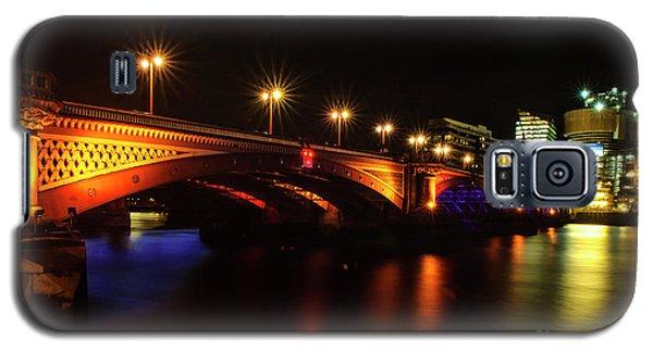 Blackfriars Bridge Illuminated In Orange Galaxy S5 Case