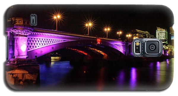 Blackfriars Bridge Illuminated In Purple Galaxy S5 Case