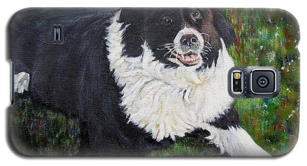 Galaxy S5 Case featuring the painting Blackie by Marilyn  McNish