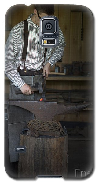 Galaxy S5 Case featuring the photograph Blacksmith At Work by Liane Wright
