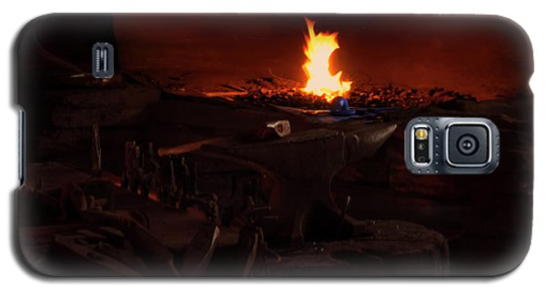 Galaxy S5 Case featuring the digital art Blacksmith Shop by Chris Flees