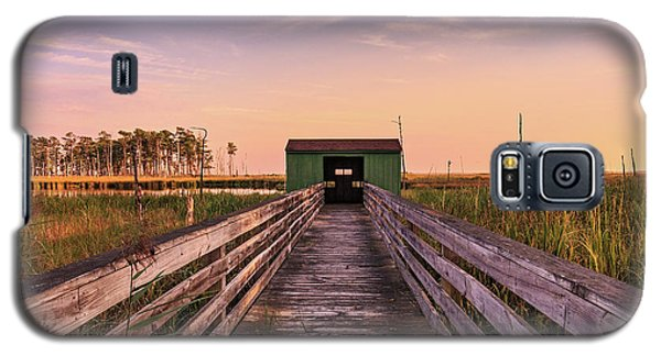 Galaxy S5 Case featuring the photograph Blackwater Blind by Jennifer Casey