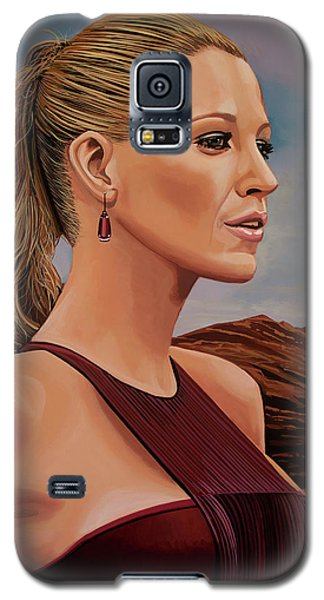 Blake Lively Painting Galaxy S5 Case by Paul Meijering