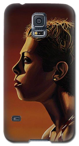 Blanka Vlasic Painting Galaxy S5 Case by Paul Meijering