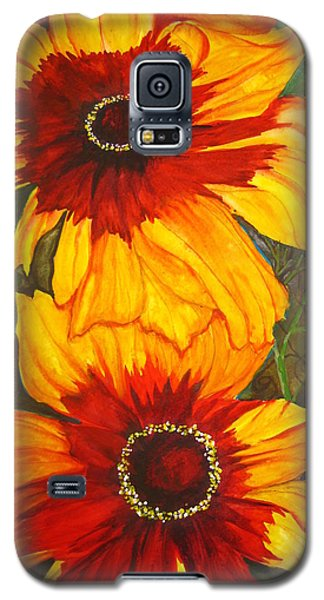 Galaxy S5 Case featuring the painting Blanket Flower by Lil Taylor