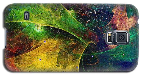Galaxy S5 Case featuring the digital art Blanket Of Stars by Klara Acel
