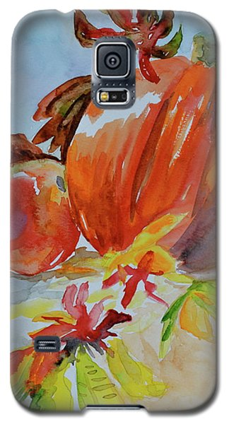 Galaxy S5 Case featuring the painting Blazing Autumn by Beverley Harper Tinsley