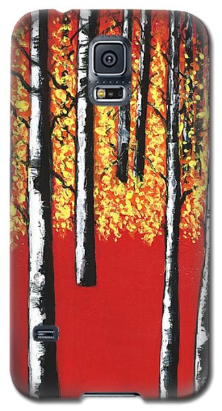 Blazing Birches Galaxy S5 Case