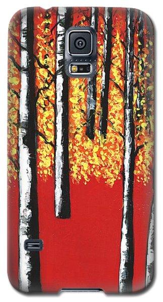 Blazing Birches Galaxy S5 Case
