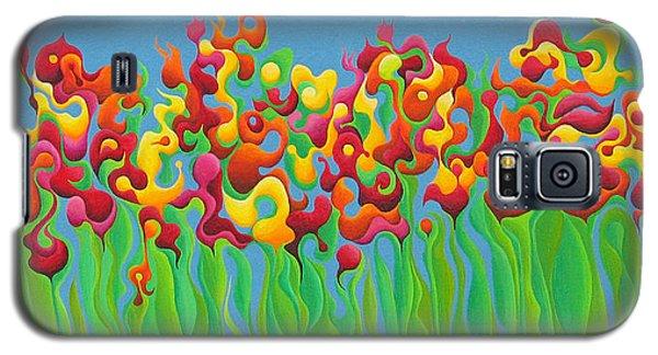Blazing Blossom Bash Galaxy S5 Case