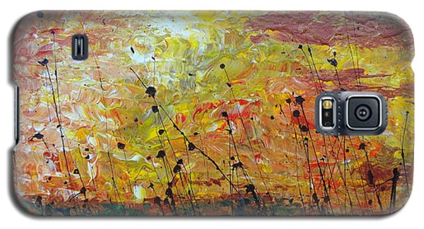 Galaxy S5 Case featuring the painting Blazing Prairie by Jacqueline Athmann