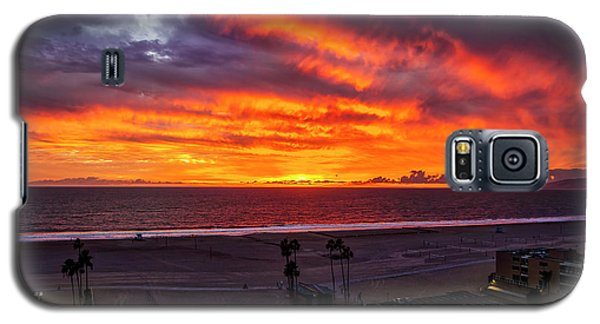 Blazing Sunset Over Malibu Galaxy S5 Case