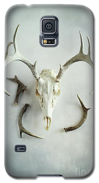 Galaxy S5 Case featuring the photograph Bleached Stag Skull by Stephanie Frey