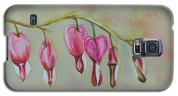 Galaxy S5 Case featuring the painting Bleeding Hearts by Betty-Anne McDonald