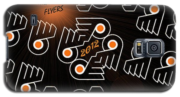 Bleeding Orange And Black - Flyers Galaxy S5 Case