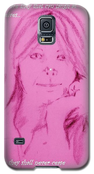 Galaxy S5 Case featuring the drawing Blessed Are They by Denise Fulmer