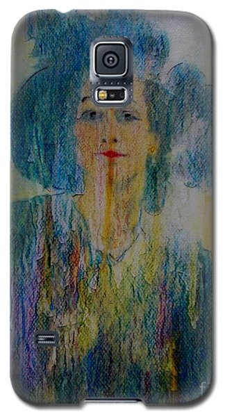 Galaxy S5 Case featuring the painting Bleu Femme Fatal by Roberto Prusso