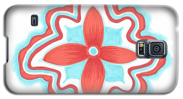 Galaxy S5 Case featuring the drawing Blissful by Jill Lenzmeier