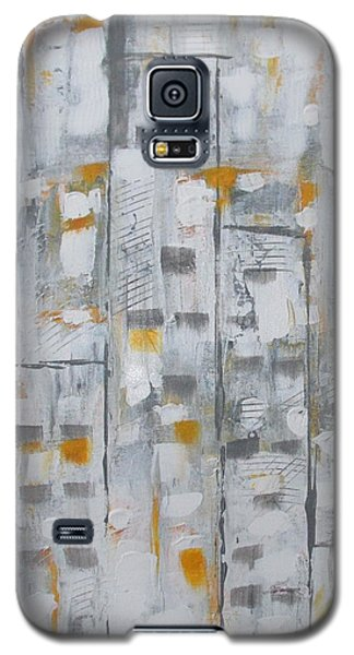 Galaxy S5 Case featuring the painting Blizzard In The Big Apple by Sharyn Winters