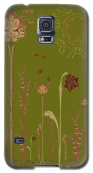 Blob Flower Garden Full View Galaxy S5 Case