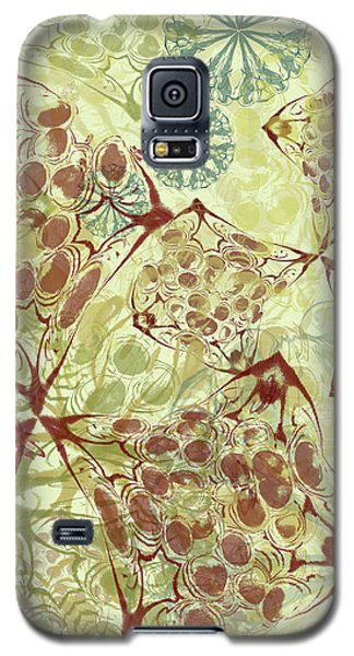 Blob Flower Painting #1 Pale Yellow Galaxy S5 Case