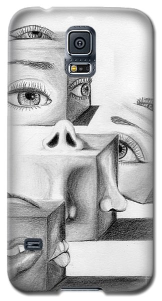 Galaxy S5 Case featuring the drawing Blocked by Denise Deiloh