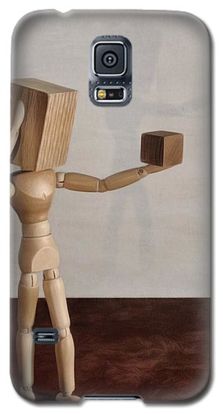 Galaxy S5 Case featuring the photograph Blockhead by Mark Fuller