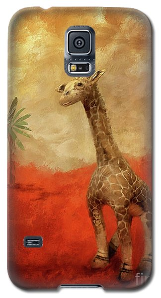 Galaxy S5 Case featuring the digital art Block's Great Adventure by Lois Bryan