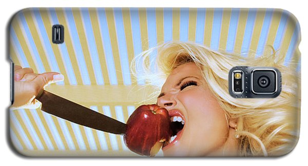 Blonde And Red Apple Galaxy S5 Case