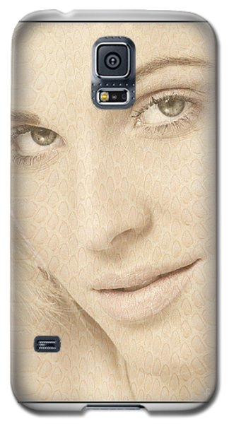 Galaxy S5 Case featuring the photograph Blonde Girl's Face by Michael Edwards