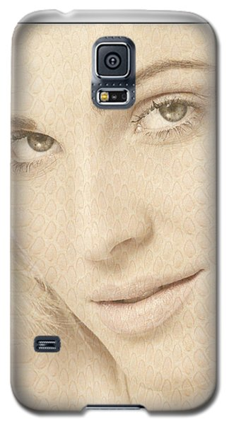 Blonde Girl's Face Galaxy S5 Case by Michael Edwards