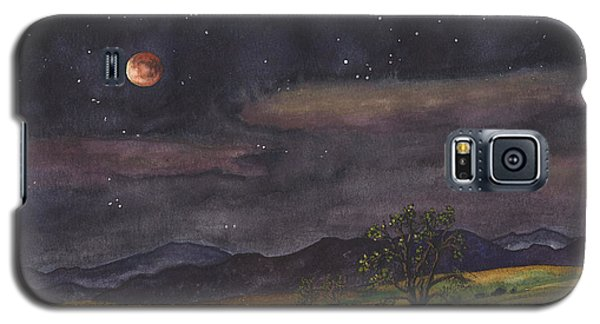 Galaxy S5 Case featuring the painting Blood Moon Over Boulder by Anne Gifford