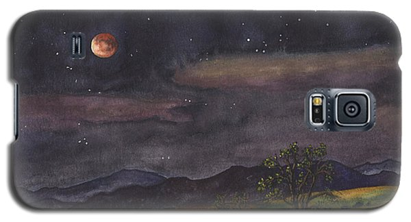 Rocky Galaxy S5 Case - Blood Moon Over Boulder by Anne Gifford