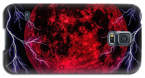 Galaxy S5 Case featuring the photograph Blood Moon Over Mist Lake by Naomi Burgess
