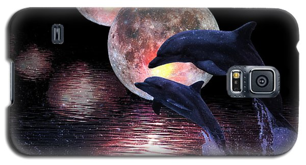 Dolphins In The Moonlight Galaxy S5 Case