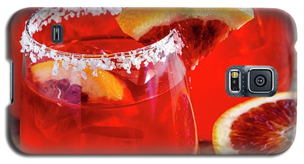 Galaxy S5 Case featuring the photograph Blood Orange Margaritas On The Rocks by Teri Virbickis