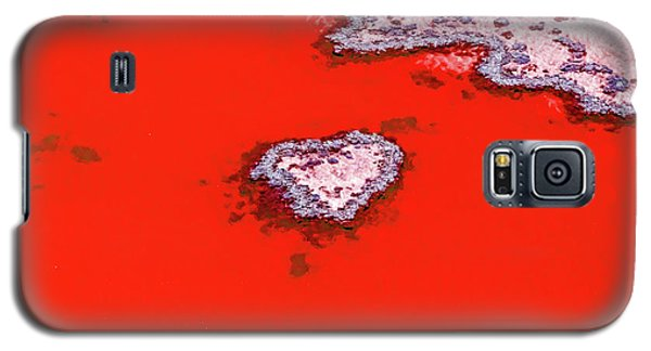 Helicopter Galaxy S5 Case - Blood Red Heart Reef by Az Jackson