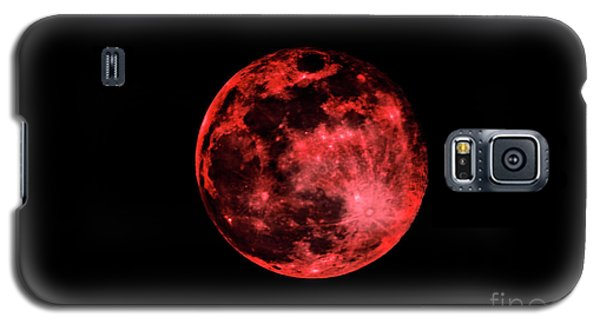 Blood Red Moonscape 3644b Galaxy S5 Case