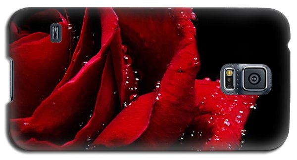 Blood Red Rose Galaxy S5 Case