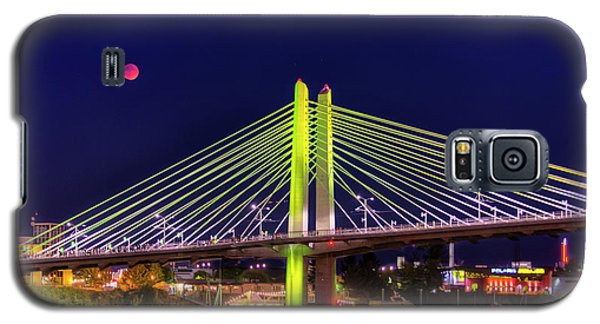 Blood Red Moon Over Tilikum Crossing Galaxy S5 Case