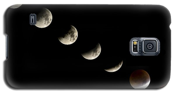 Bloodmoon Lunar Eclipse With  Phases Composite Galaxy S5 Case