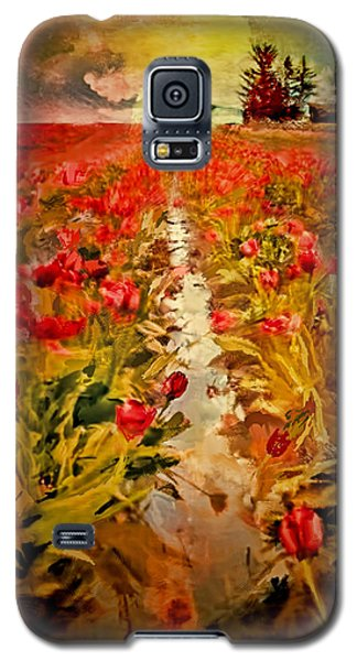 Galaxy S5 Case featuring the digital art Bloomin Tulips by Dale Stillman