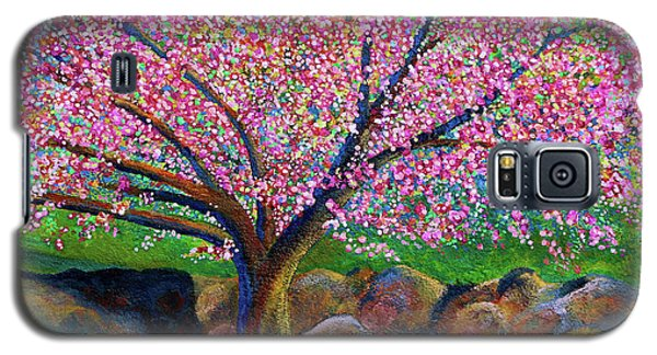Blooming Crabapple In Evening Light Galaxy S5 Case by Polly Castor