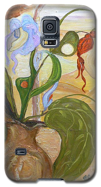Blooming Orchids In The Vase Galaxy S5 Case
