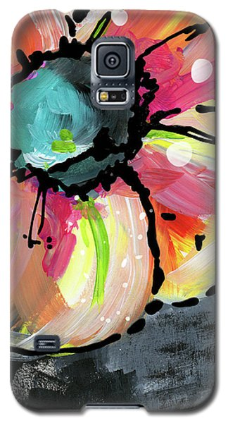 Galaxy S5 Case featuring the mixed media Blooming Wildflower- Art By Linda Woods by Linda Woods